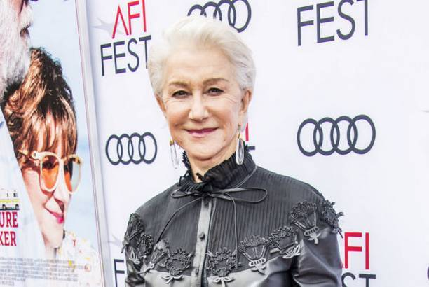 71-летняя Хелен Миррен вышла в свет в кожаном платье