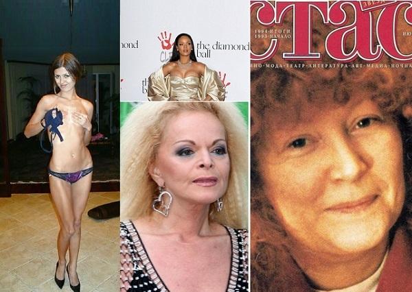 Боня и ее грудь до пластики, Топ-10 самых скандальных мейк-апов звезд, Брежнева танцует тверк, 10 самых обсуждаемых фото Пугачевой, выпадающие из платья груди Ирины Пеговой и Рианны