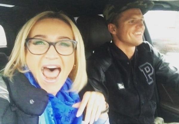 Ольга Бузова и Дмитрий Тарасов нарушают правила дорожного движения