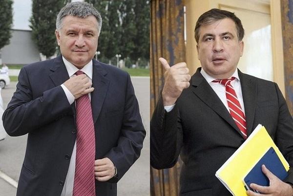 Видео дня: Аваков и Саакашвили ругаются под музыку