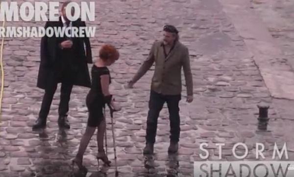 Милен Фармер пришла на съемки нового клипа к Стингу на костылях
