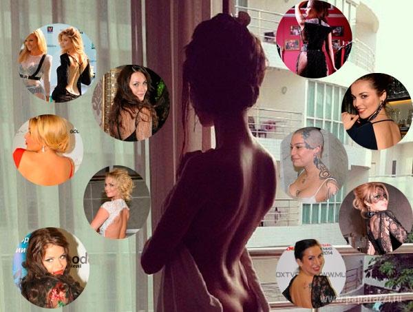 Топ-10 женских спинок россйского шоу-бизнеса: вид сзади