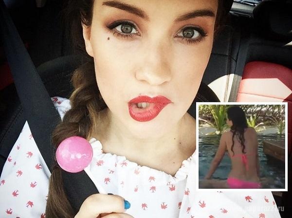 Беременная Виктория Дайнеко в розовых бикини станцевала тверк
