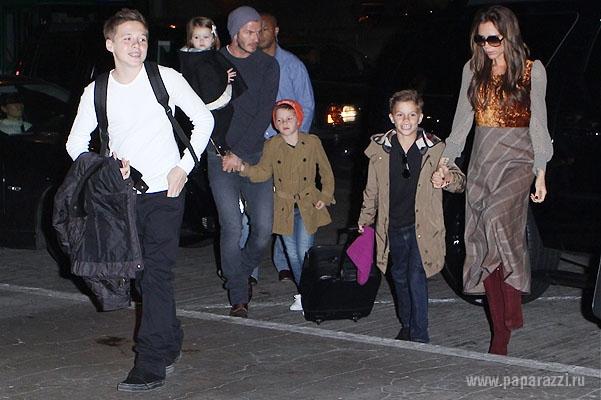 Семейство Бекхэмов совершило поход в спортзал