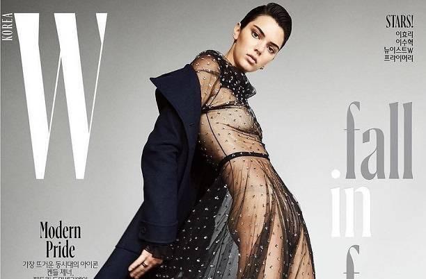 Обнаженная Кендалл Дженнер появилась на обложке журнала