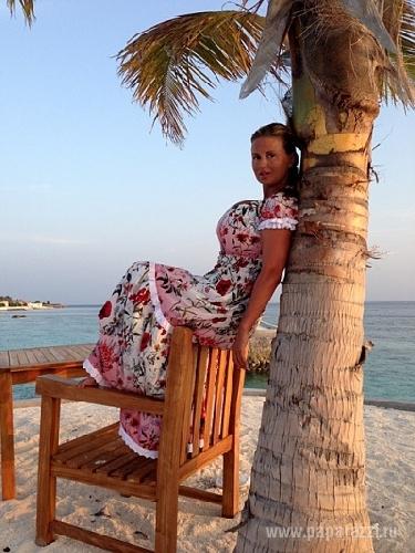 Юлия Семенович провела каникулы на Мальдивах (фото)
