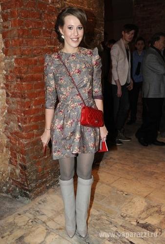 Ксения Собчак похвасталась бабушкиным платьем