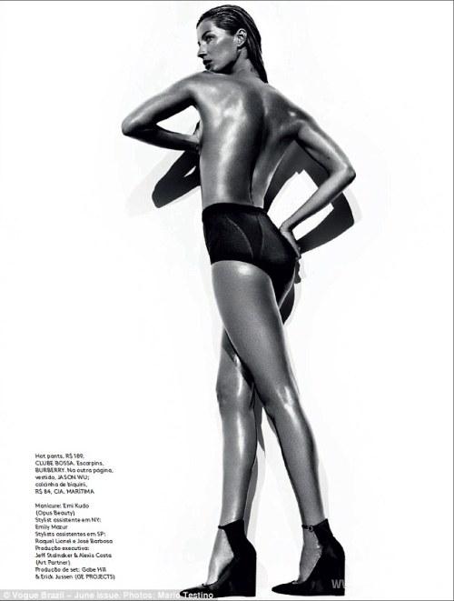 Жизель Будхен показала работу модели со стороны журналу Vogue