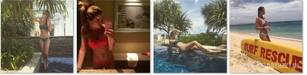 Ксения Бородина чуть не потеряла бикини, купаясь в бассейне (видео)