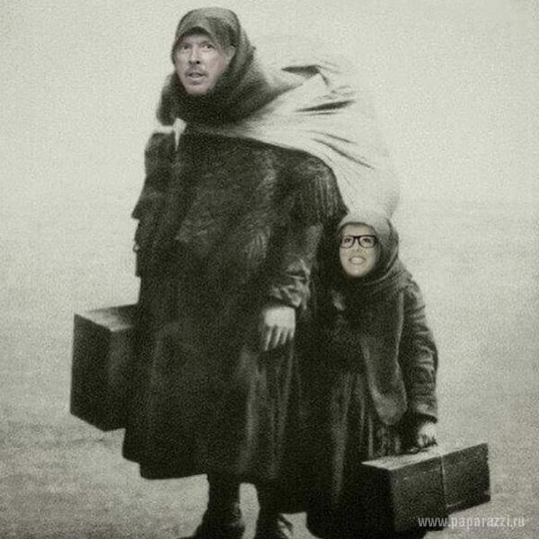 В сети набирает популярность шуточная картинка с Андреем Макаревичем и Ксенией Собчак