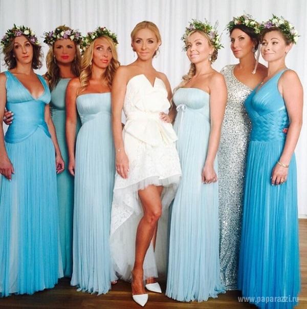Татьяна Навка вышла замуж в коротком белом платье
