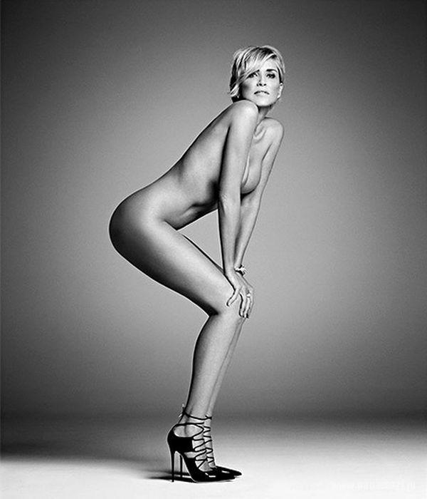 57-летняя актриса Шерон Стоун полностью обнажилась для глянца