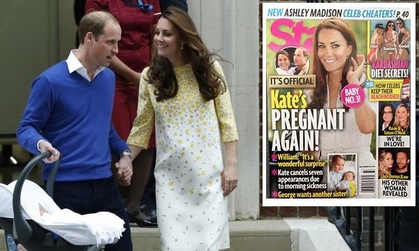 Западные таблоиды сообщают о беременности Кейт Миддлтон