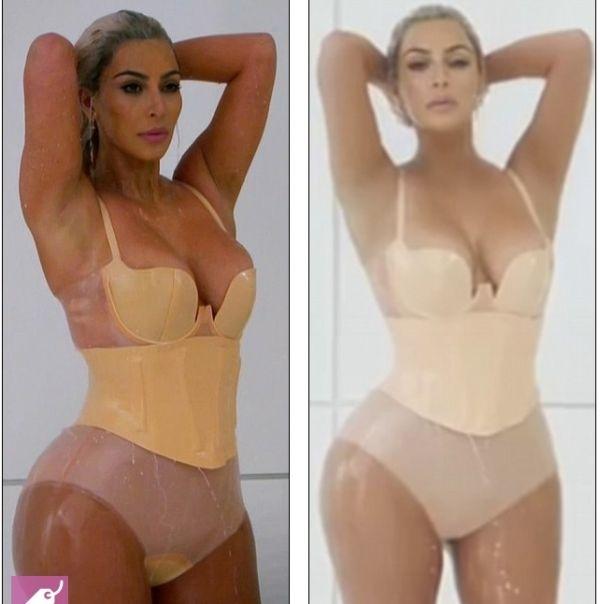 В сети появилось фото обнажённой Ким Кардашьян на съемках клипа «M.I.L.F. $»