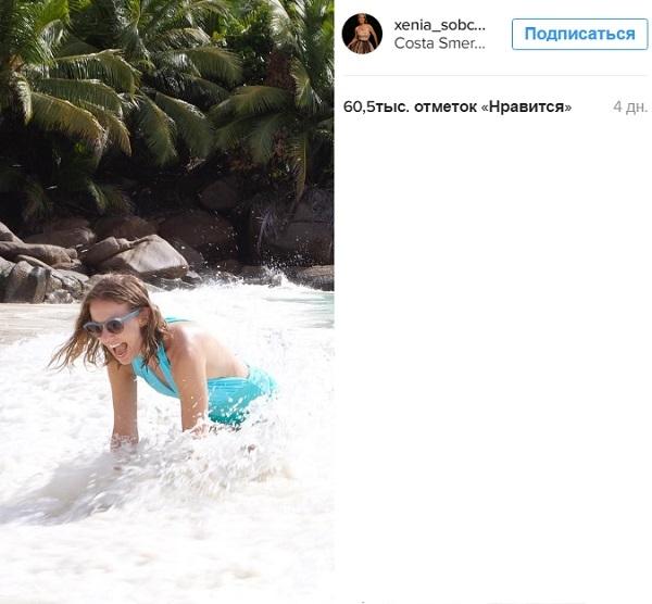 Ксения Собчак снова потеряла живот
