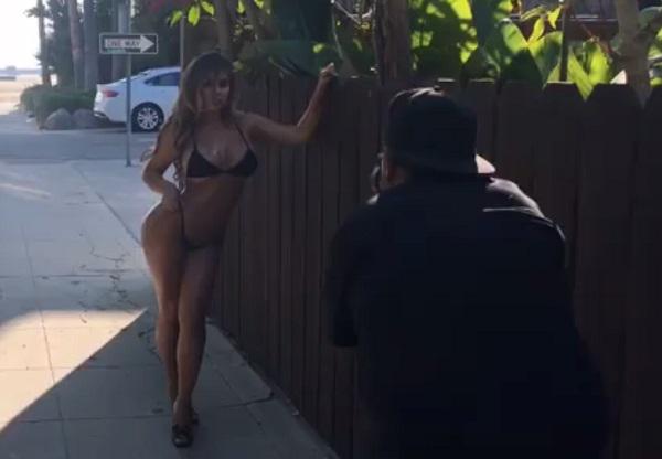 «Русская Ким Кардашьян» поделилась откровенным видео сфотосессии