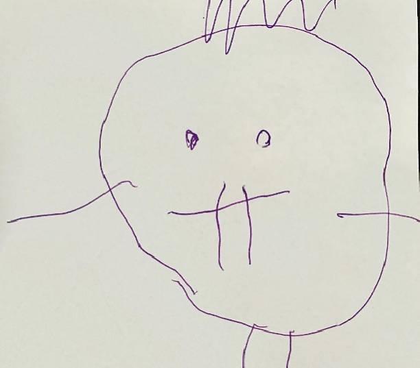Гарик Харламов поделился портретом, который нарисовала его маленькая дочь