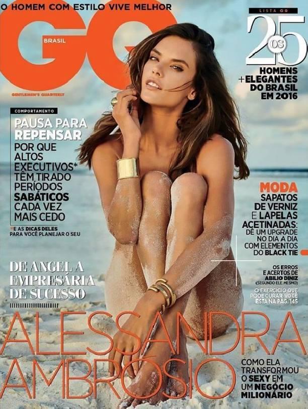 Журнал GQ разместил фото полностью обнаженной Алессандра Амбросио