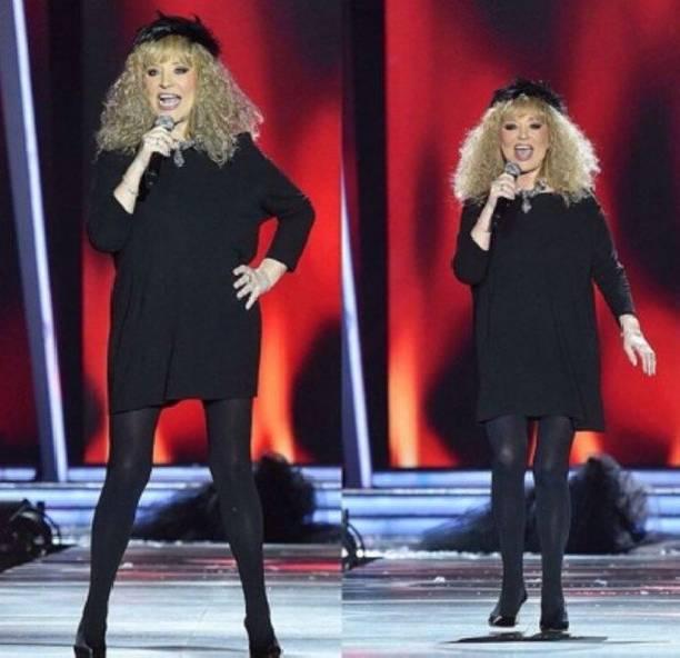 Алла Пугачева появилась на сцене в мини-платье
