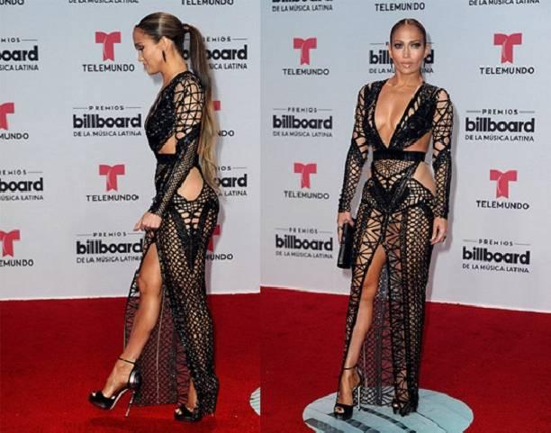 Дженнифер Лопес за один вечер блеснула двумя сетчатыми платьями без нижнего белья