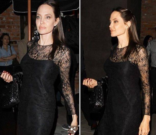 ВДень матери дети оставили Анджелину Джоли содним сыном