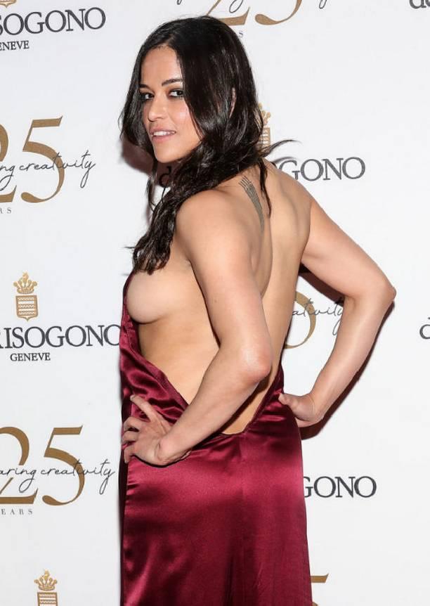 Мишель Родригес чудом избежала позора из-за неудачного наряда
