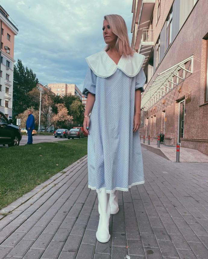 Рейтинг дня: Ксения Собчак предстала в кукольном платье