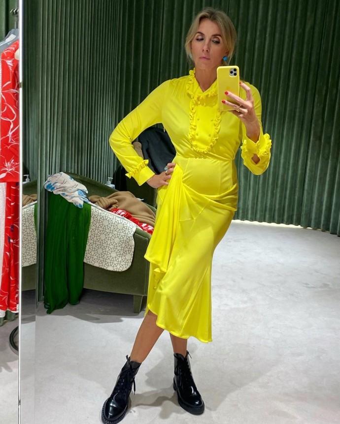 Рейтинг дня: Свелана Бондарчук облачилась в ярко-жёлтый цвет