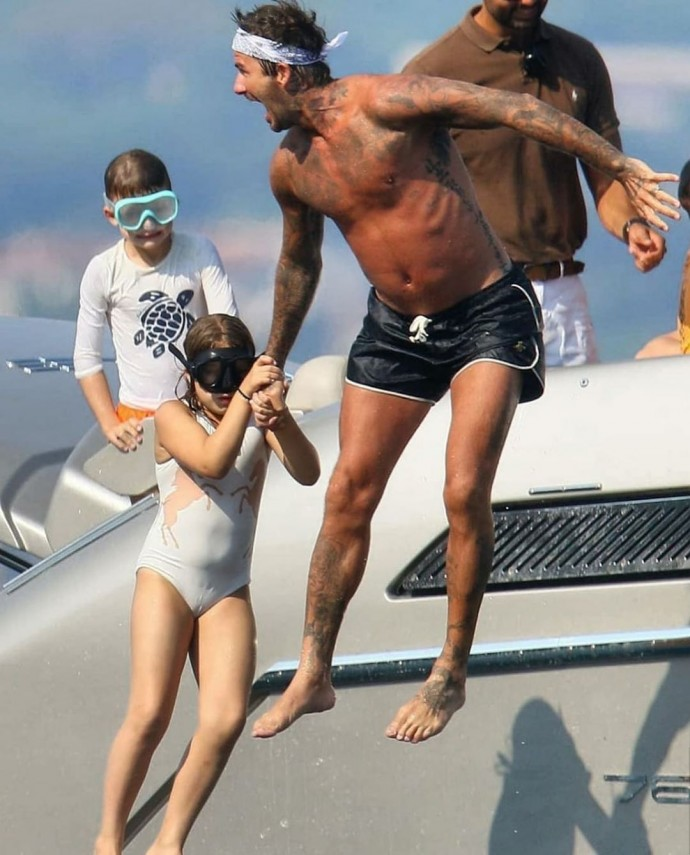 Fans criticized Victoria and David Beckham's 9-year-old daughter as being too fat