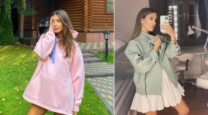 Рейтинг дня: Кети Топурия в коротеньком платье и ботинках Prada мчится по делам