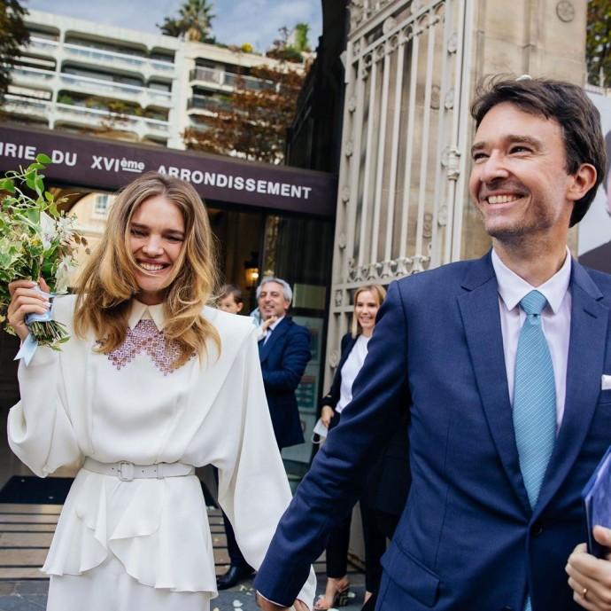 Наталья Водянова показала первое фото со свадьбы с Антуаном Арно
