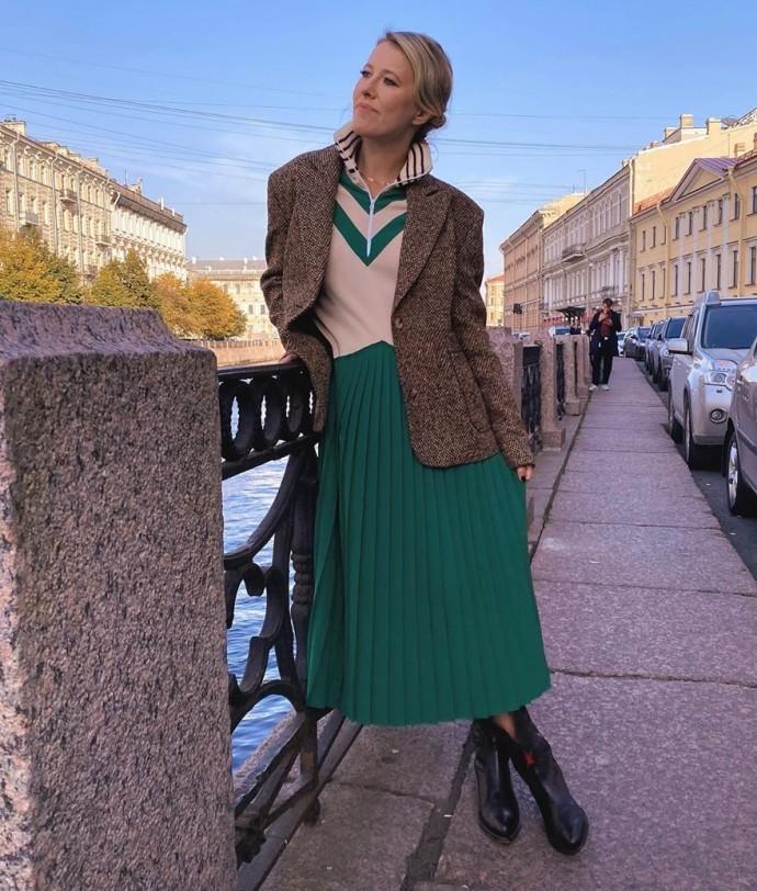 Рейтинг дня: Ксения Собчак основательно подготовилась к прогулке по улочкам Санкт-Петербурга