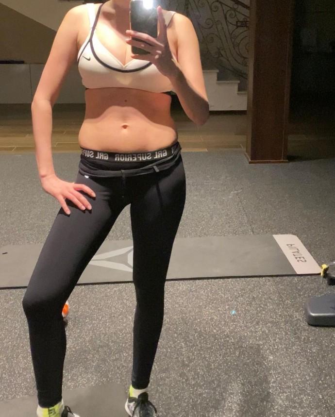 Анастасия Костенко показала, как изменилось ее тело за семь месяцев тренировок