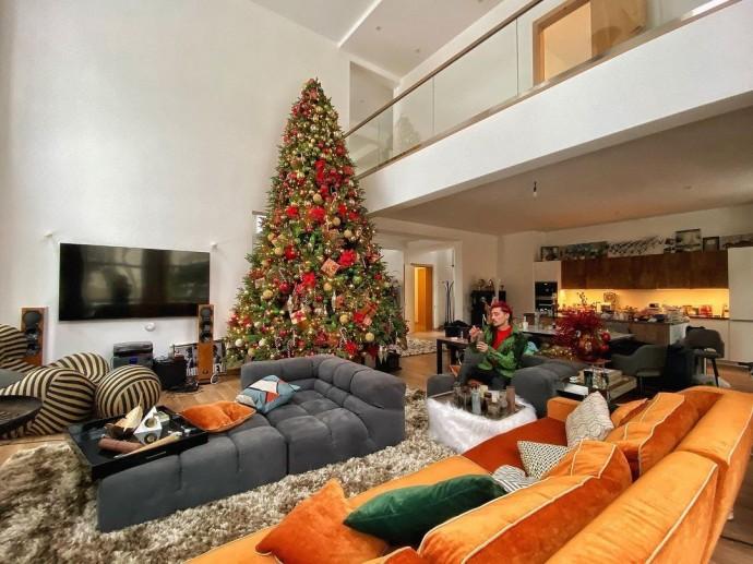 Дима Билан украсил дом к Новому году
