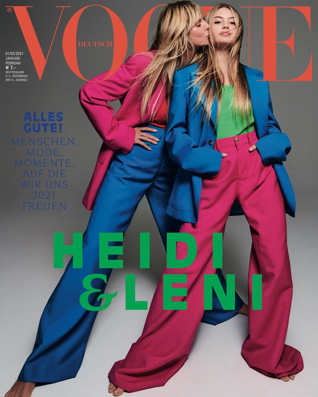 Хайди Клум снялась для обложки Vogue вместе с 16-летней дочерью Лени
