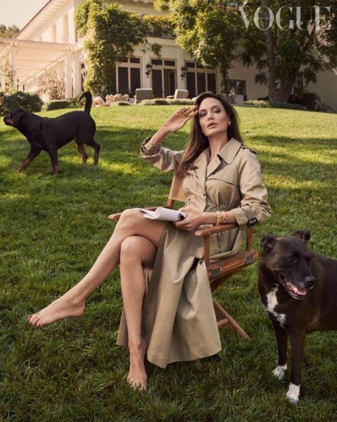 Анджелина Джоли снялась для Vogue в компании любимых зверей