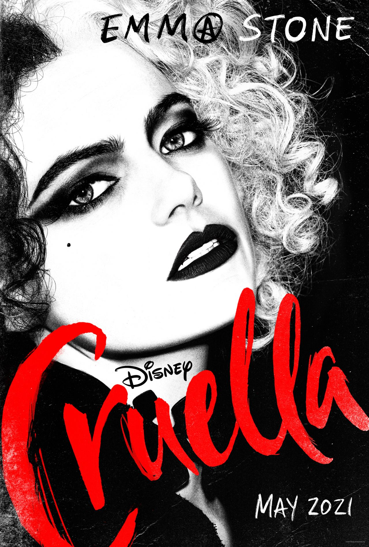 "The first poster of the movie ""Cruella"" with the participation of Emma Stone appeared on the web"