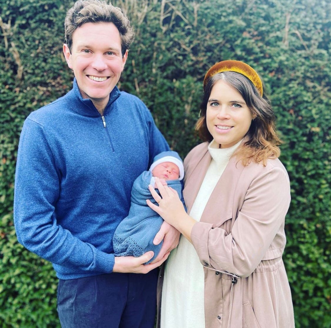 Princess Eugenia showed the first photo of her son