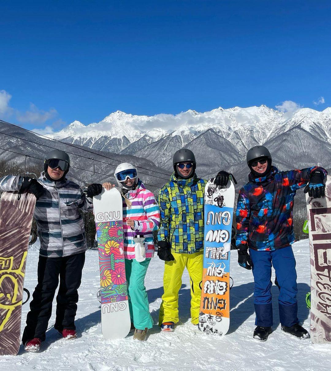 Сергей Лазарев и Александр Малиновский порезвились в горах