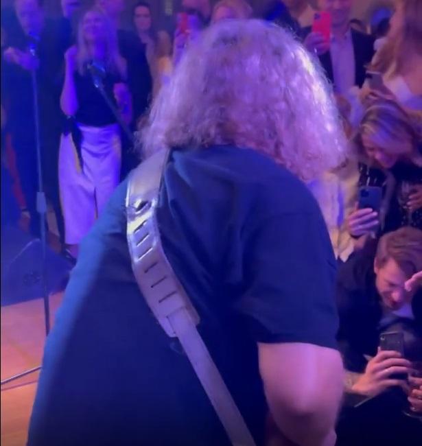 Fat rocker: Igor Nikolaev, who has grown quite grown-up, amused the audience at the birthday of Vladimir Presnyakov