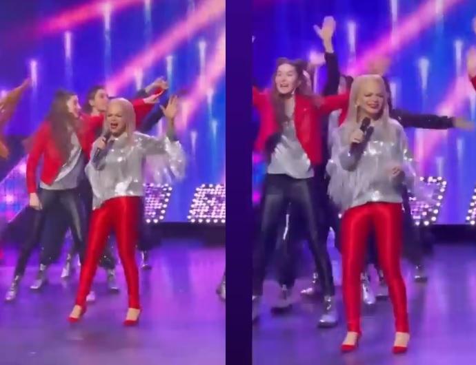 Помолодевшая Лариса Долина вышла на сцену в ярких красных штанах: фото до и после фотошопа