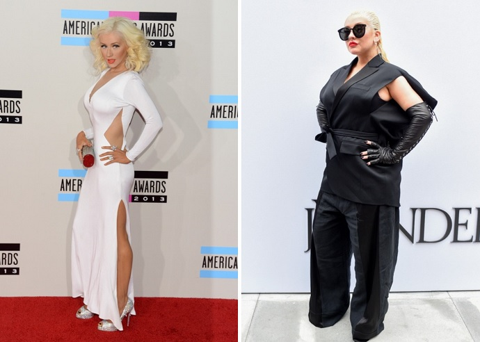 """""""I appreciate my ass"""": Christina Aguilera posted unpublished photos on Instagram for Health magazine"""