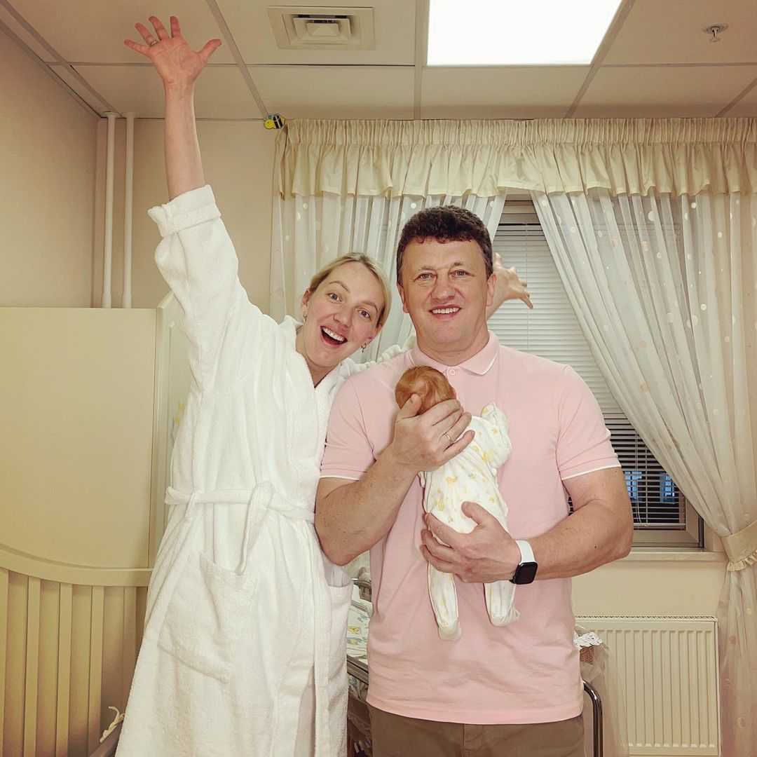 Galina Bob published a photo during discharge from the hospital
