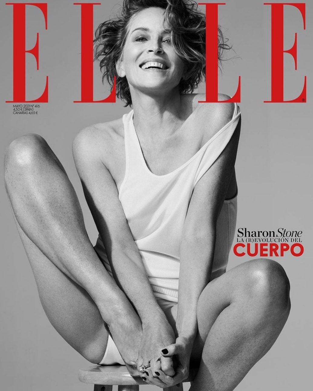 Sharon Stone, 63, ditches panties while filming for ELLE cover