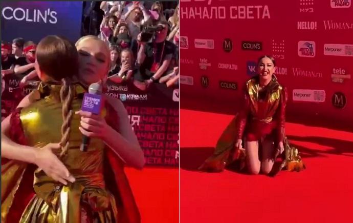 Опухшая Ольга Бузова едва не расплакалась на премии МУЗ ТВ, рассказывая, что она свободна, богата и знаменита