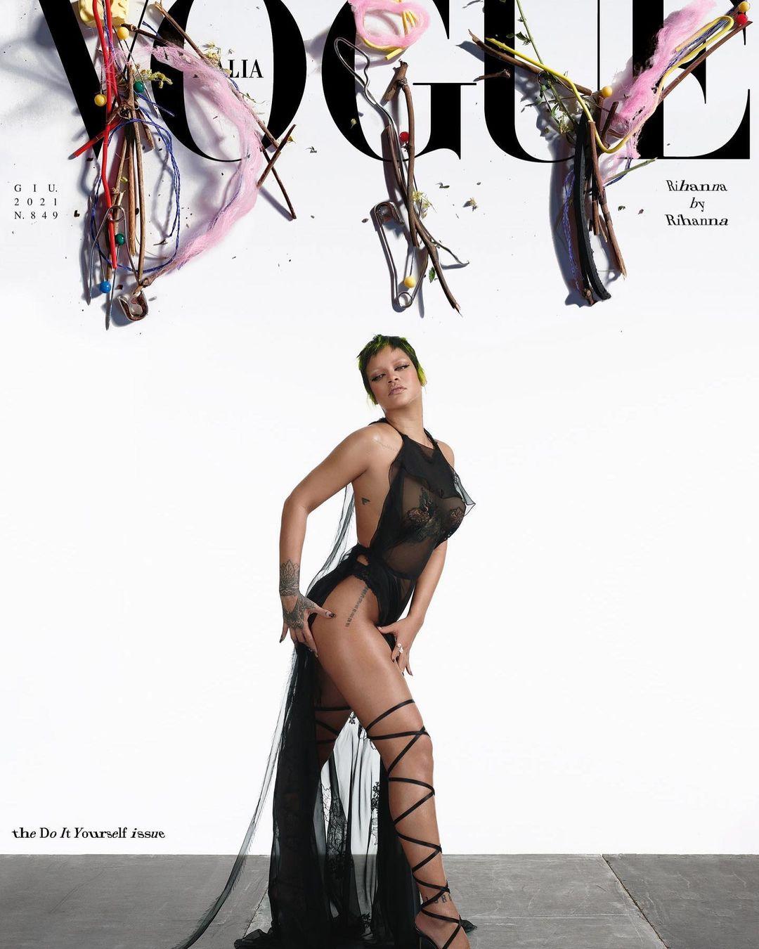 Певица Рианна снялась в стильной фотосессии для Vogue