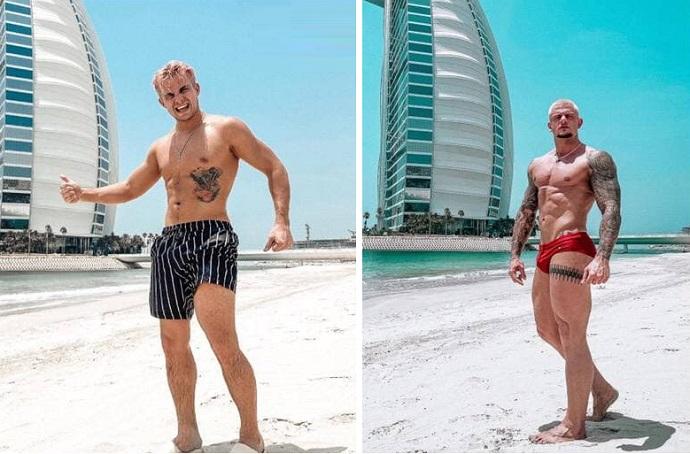 На отдыхе в Дубае Филипп Киркоров засветил огромный живот и двоих мускулистых красавцев из своего сопровождения