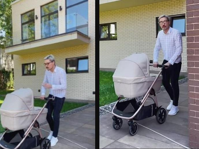 По стопам Сергея Лазарева? Дима Билан замечен на прогулке с коляской