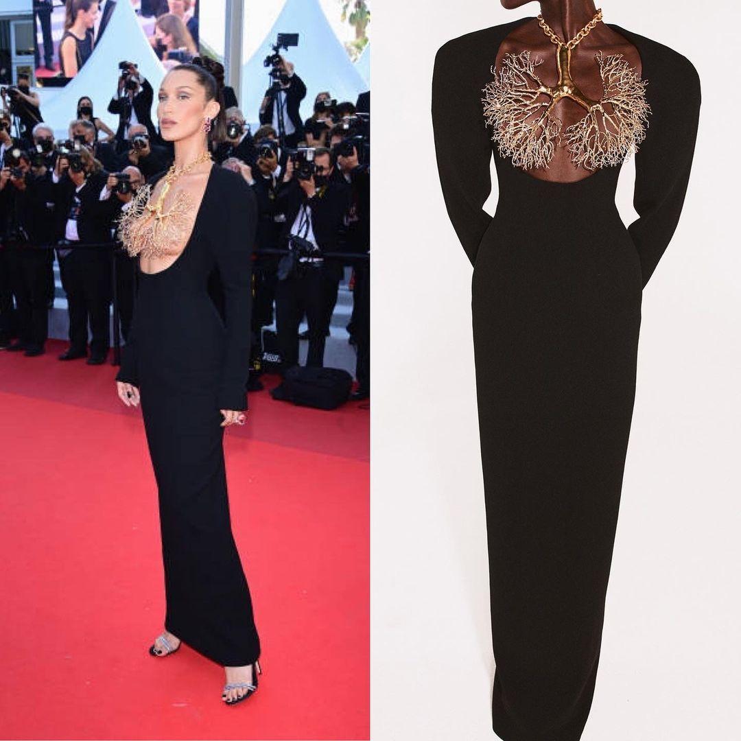 Платье Беллы Хадид названо одним из самых красивых за всю историю Каннского кинофестиваля