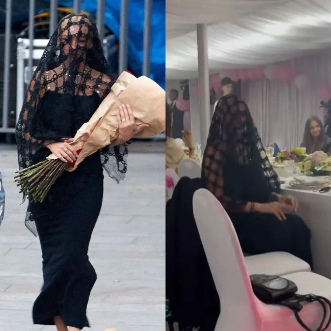 Настя Ивлеева явилась на свадьбу Моргенштерна в трауре